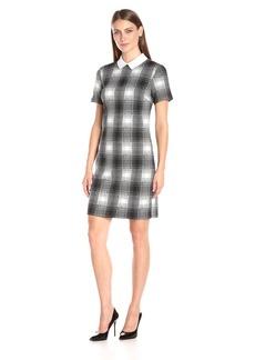 Tommy Hilfiger Women's Heather Tartan Collar Shift Dress