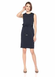 Tommy Hilfiger Women's Heavy Scuba SELF TIE Dress