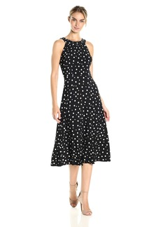 Tommy Hilfiger Women's High Low Dot Jersey Dress