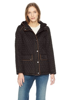 Tommy Hilfiger Women's Hooded Diamond Quilted Jacket  M