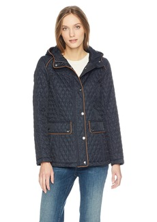 Tommy Hilfiger Women's Hooded Diamond Quilted Jacket  XS