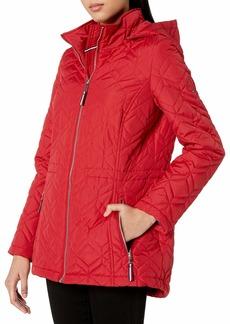 Tommy Hilfiger Women's Classic Quilted Jacket CrimsonRe