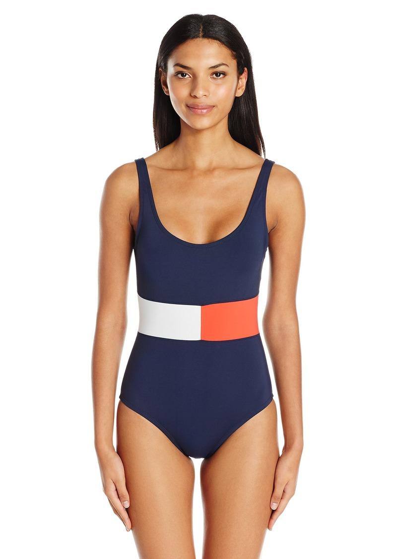 efa791f015a80 Tommy Hilfiger Women's Island Goddess Multi Strap Cross-Back One Piece  Swimsuit