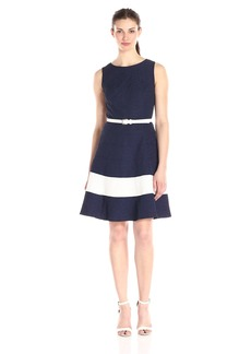 Tommy Hilfiger Women's Jacquard Stripe Fit and Flare Dress