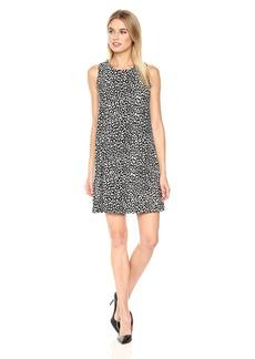 Tommy Hilfiger Women's Jersey Print Trapeze Dress Black/Ivory