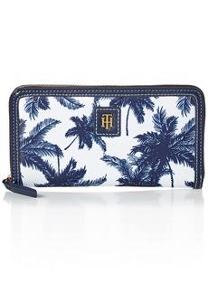 Tommy Hilfiger Women's Julia Large Zip Wallet Navy/White