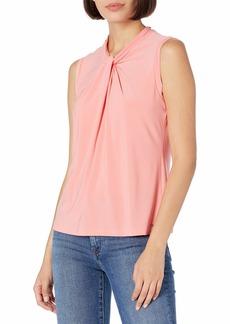 Tommy Hilfiger Women's Knot Neck Sleeveless-Knit Tops