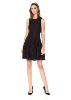 Tommy Hilfiger Women's Lace Fit and Flare Dress