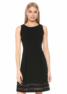 Tommy Hilfiger Women's Lace Hem Fit and Flare Dress