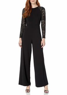 Tommy Hilfiger Women's Lace Sleeve Jumpsuit