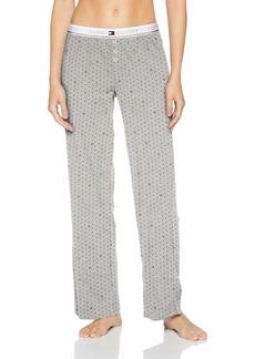 Tommy Hilfiger Women's Logo Bottom Lounge Pajama Pant Pj Heather Grey TH Dot XL