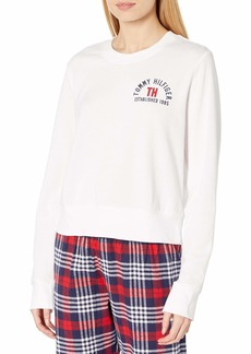 Tommy Hilfiger Women's Logo Tee Sweathshirt Pajama Top  L