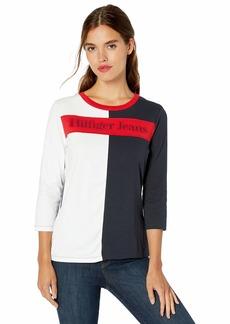 Tommy Hilfiger Women's Long Sleeve Hilfiger Jeans Logo Tee  M