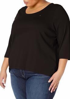 Tommy Hilfiger Women's Long Sleeve Scoop Neck Tee