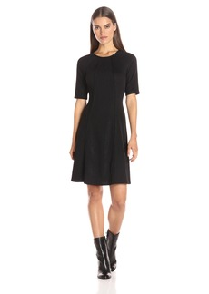 Tommy Hilfiger Women's Lurex Ponte Fit and Flare