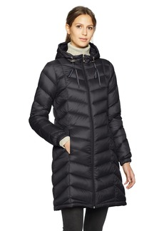 Tommy Hilfiger Women's Mid Length Packable Down Chevron Quilt Coat  Extra Large