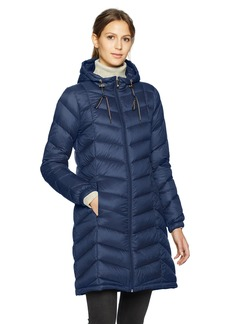 Tommy Hilfiger Women's Mid Length Packable Down Chevron Quilt Coat  Extra Small