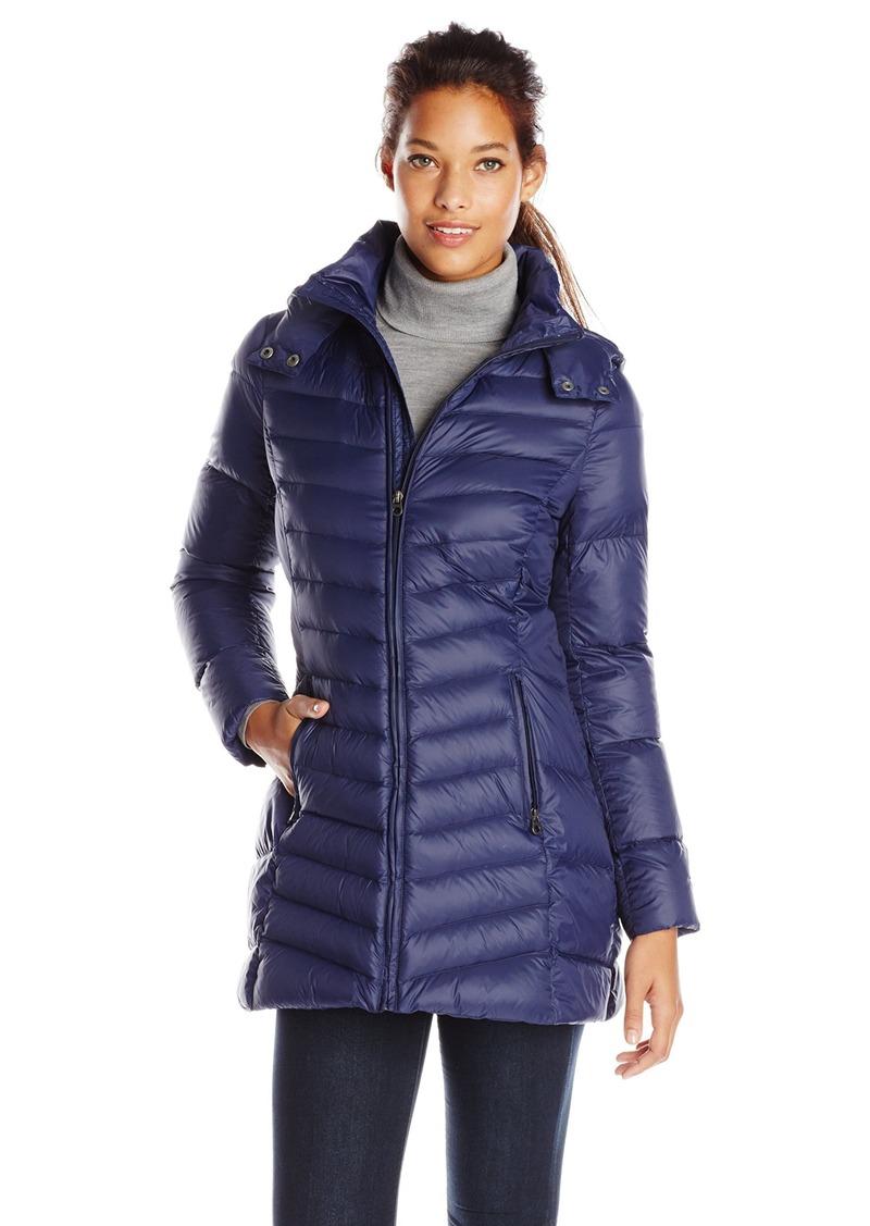 014cf9280 Women's Mid Length Packable Down Coat with Hood