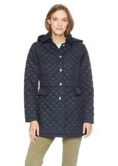 Tommy Hilfiger Women's Mid Length Quilted Pant Coat  XL