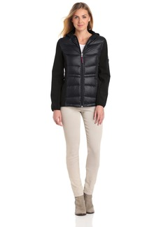 Tommy Hilfiger Women's Mixed Media Athletic Soft Shell Jacket