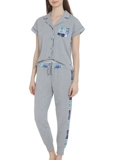 Tommy Hilfiger Women's Mixed Plaid Pajama Set