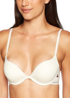 Tommy Hilfiger Women's Modal Logoband Tailored Push up Bra Bra