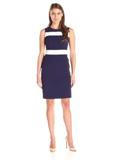 Tommy Hilfiger Women's Navy Stripe Sleeveless Shift Dress