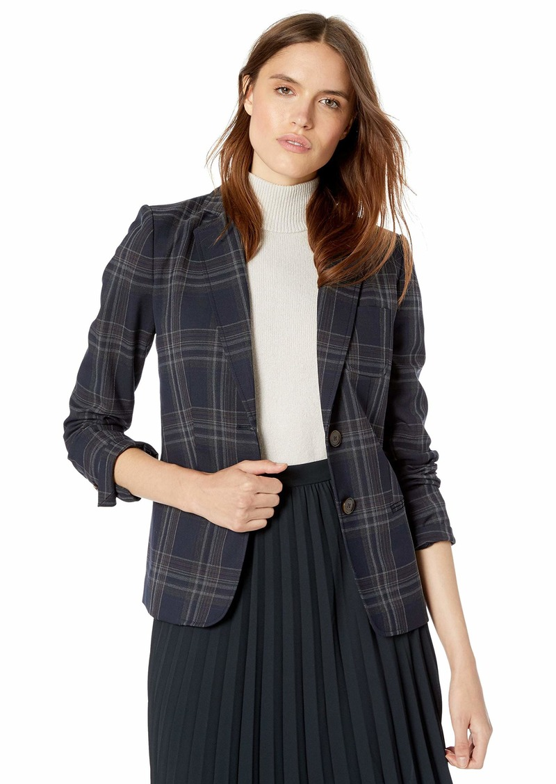 Tommy Hilfiger Women's Novelty Plaid Two Button Blazer