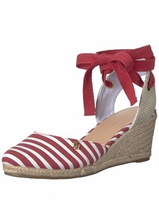 Tommy Hilfiger Women's Nowell Espadrille Wedge Sandal red  M US