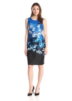 Tommy Hilfiger Women's Ombre Floral Scuba Dress