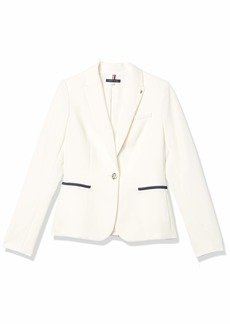 Tommy Hilfiger Women's One Button-Blazer