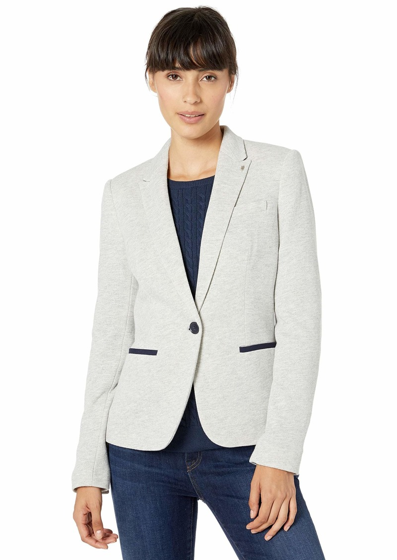 Tommy Hilfiger Women's One Button Sweatshirt Blazer