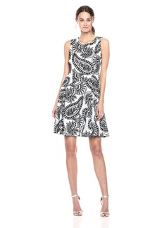 Tommy Hilfiger Women's Paisley Embroidered Sleevless Dress