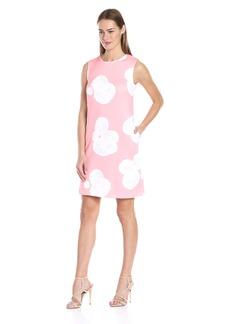 Tommy Hilfiger Women's Paper Rose Scuba Shift Dress