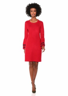Tommy Hilfiger Women's Peplum Sleeve Sweater Dress