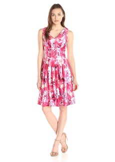 Tommy Hilfiger Women's Pink Floral Fit and Flare Dress