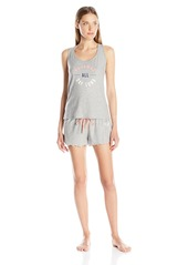 Tommy Hilfiger Women's Pjs All Day Key Hole Tank and Confetti Short