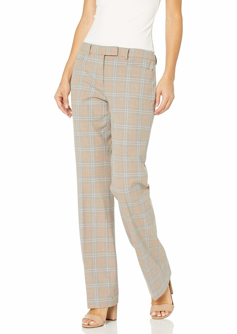 Tommy Hilfiger Women's Plaid Full Length Bootleg Pant