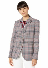 Tommy Hilfiger Women's Plaid Two Button Blazer