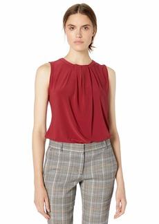 Tommy Hilfiger Women's Pleat Front Sleeveless Knit Top
