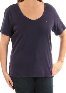 Tommy Hilfiger Women's Plus-Size Short Sleeve V-Neck Flag T-Shirt