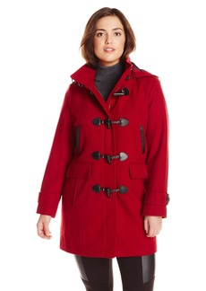 Tommy Hilfiger Women's Plus-Size Wool Duffle Coat