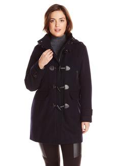 Tommy Hilfiger Women's Plus-Size Wool Duffle Coat