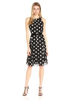 Tommy Hilfiger Women's Polka Dot Chiffon Dress