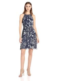 Tommy Hilfiger Women's Porcelain Floral Chiffon Dress