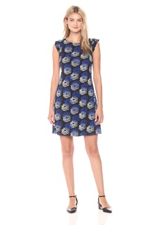 Tommy Hilfiger Women's Printed CDC Flutter Sleeve Dress