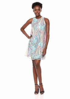 Tommy Hilfiger Women's Printed Chiffon Trapeze Dress
