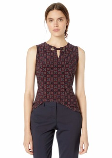 Tommy Hilfiger Women's Printed Grommet Sleeveless Knit Top
