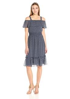 Tommy Hilfiger Women's Provinical Foulard Print Chiffon Dress