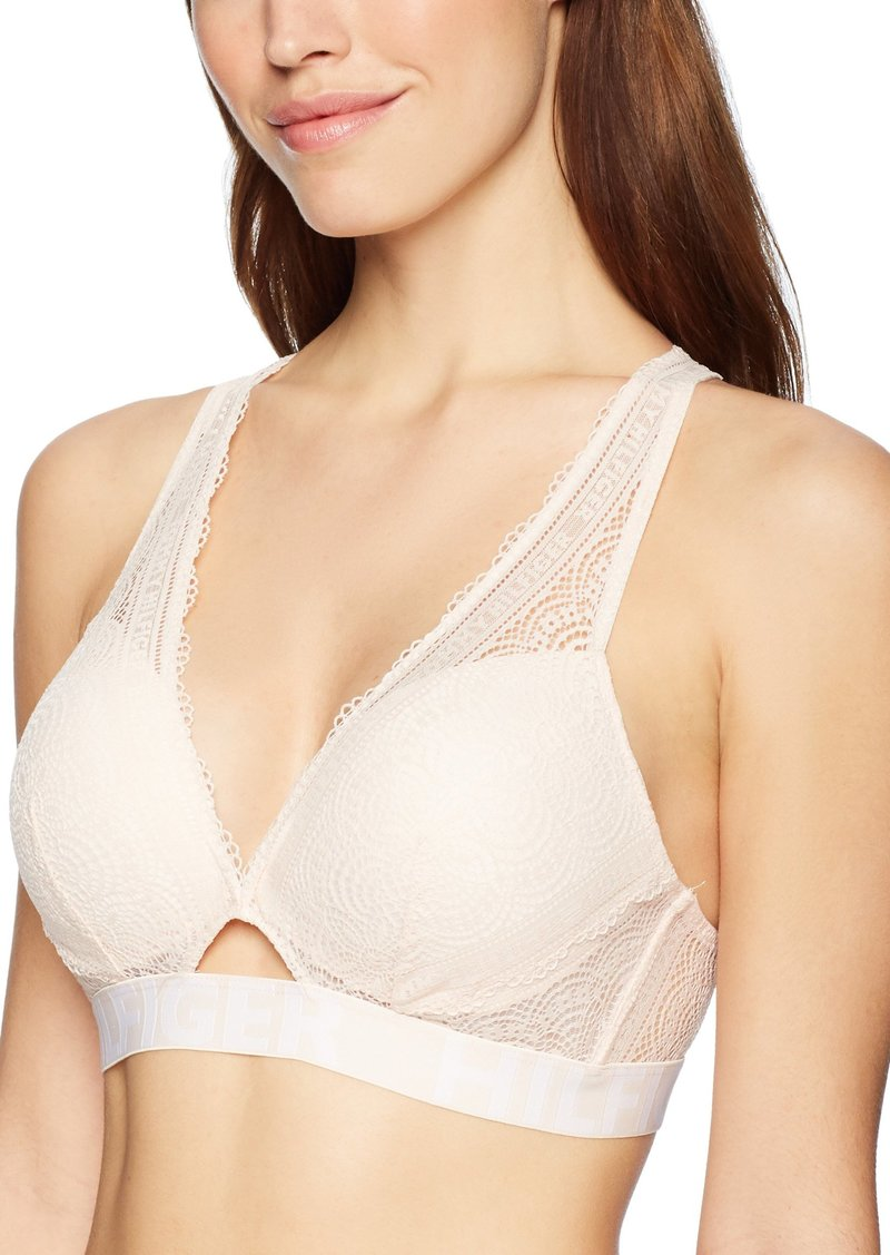 Tommy Hilfiger Women's Push-Up Lace Bralette Bra Bra  XL